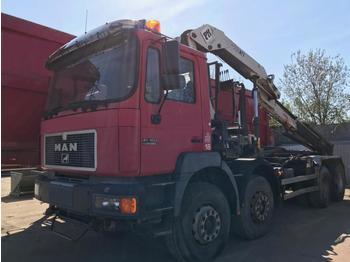Hook lift truck MAN 41403 silent AMPLIROLL GRUE