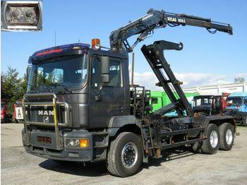 Hook lift truck MAN F2000 26.403 FL Abrollkipper mit Kran Funk