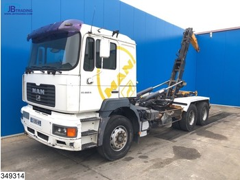 Hook lift truck MAN FE 460 6x4, Manual, Steel suspension