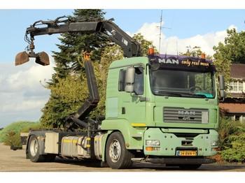 Hook lift truck MAN TGA18/400 !!KRAAN/HAAK!!EURO5!!