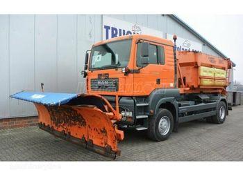 Hook lift truck MAN TGA 18.350 4x4 Hótoló sószóró
