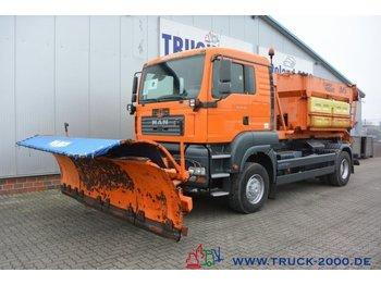 Hook lift truck MAN TGA 18.350 4x4 Winterdienst - Streuer + Schild