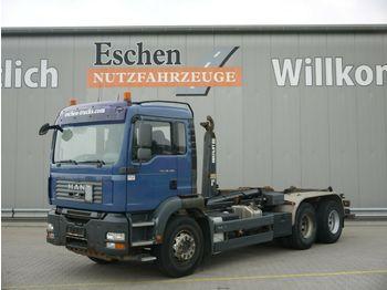 Hook lift truck MAN TGA 26.400 6x4BB*Multilift LHS26256*Klima*1.Hand