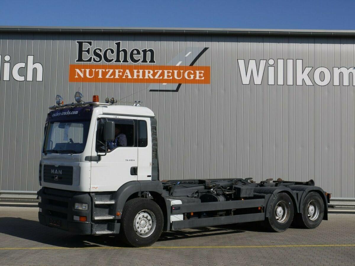 hook lift truck MAN TGA 26.410 6x4, Atlas ARK 204 K