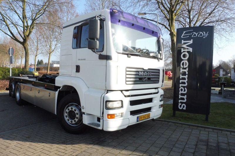 hook lift truck MAN TGA 26.410 L 6x2 Hakenabroller