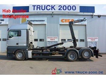 Hook lift truck MAN TGA 26.440 Hiab XR21S61 21 to.Schaltgetriebe AHK