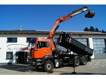 Hook lift truck MAN TGA 26.460 6x4 Abrollerkipper mit Kran PK 24500