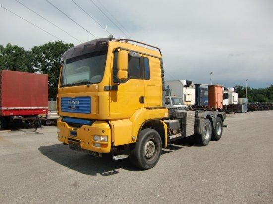 hook lift truck MAN TGA 33.480 6x4 Abroller, E3