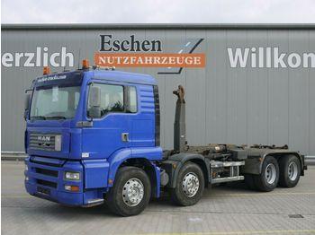 Hook lift truck MAN TGA 35.360 FFDLC, 8x4, EUR 3,Multilift LHS 32061
