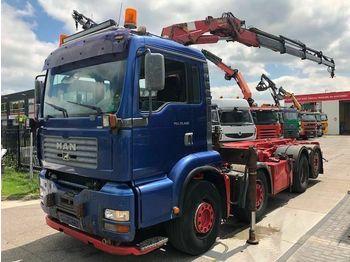 Hook lift truck MAN TGA 35.480 HMF 2223K4 MET 3XZIJDIG KABEL