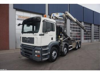 Hook lift truck MAN TGA 41.480 8x4 Effer 25 ton/meter laadkraan