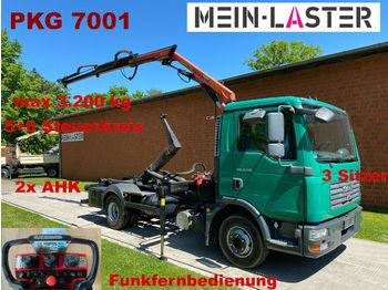 Hook lift truck MAN TGL 9.210 Palift + PK 7001 Funk FB -3 Sitzer