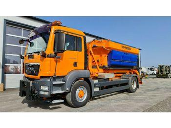 Hook lift truck MAN TGS 18.320BL 4x4 H Palift Streuer Winterdienst
