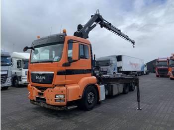 Hook lift truck MAN TGS 26.320 6X2 Hiab 144 B 3 Crane + Cable System