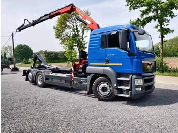 Hook lift truck MAN TGS 26.320 6x2 Euro5 container