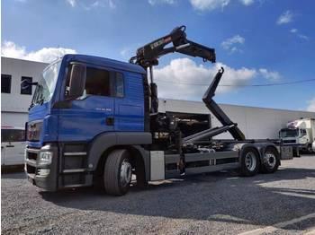 Hook lift truck MAN TGS 26.320 Euro5 Container Kraan Hiab