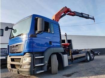 Hook lift truck MAN TGS 26.320 Euro5 Container + Kraan Palfinger