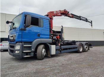 Hook lift truck MAN TGS 26.320 Euro5 Container kraan HMF 1680