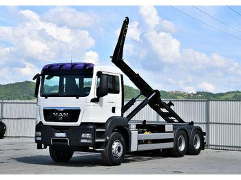 Hook lift truck MAN TGS 26.400 Abrollkipper 5,50m *6x4* Top Zustand!