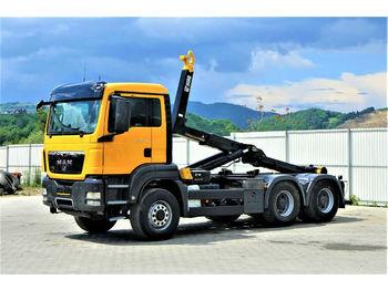 Hook lift truck MAN  TGS 26.400 Abrollkipper 5,50m *6x6* Top Zustand
