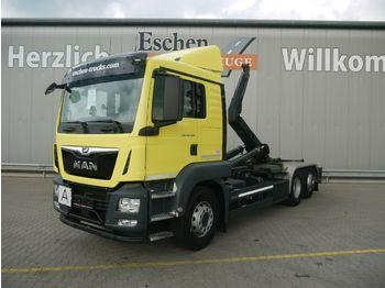 Hook lift truck MAN TGS 26.420 6x2-4 BL*Meiller RS21.65*Intarder*EU6