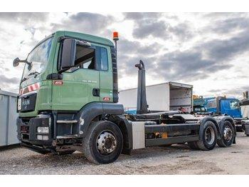 Hook lift truck MAN TGS 26.440 6x2 Abroller Meiller 2065