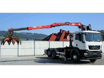 Hook lift truck MAN  TGS 26.440 Abrollkipper 5,40m+Kran * 6x2