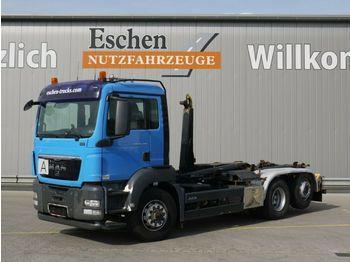 Hook lift truck MAN TGS 26.440 H, 6x4, EEV,Meiller RK 20.65, HU07/21