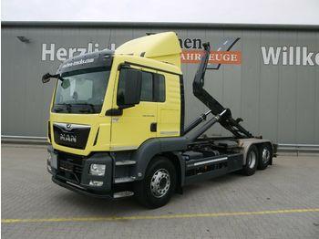 Hook lift truck MAN TGS 26.460 6x2-4BL*Intarder*Meiller RS21.65*Lenk