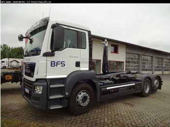 Hook lift truck MAN TGS 26.460 6x2-4 BL Meiller RS21.65 i.s.a.r. con