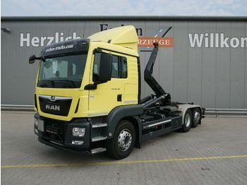 Hook lift truck MAN TGS 26.460 6x2-4 BL*Meiller RS 21.65*Kamera*Navi