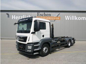 Hook lift truck MAN TGS 26.460 6x2 Meiller RS 21.67, Navi, Lift/Lenk