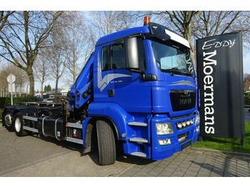 Hook lift truck MAN TGS 26.480 6x2-2 Abroller Mit Kran