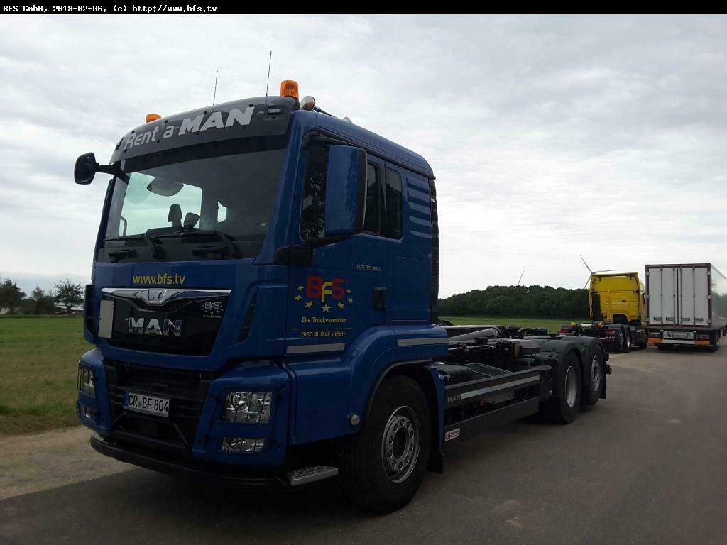 hook lift truck MAN TGS 26.480 6x2-4 BL Euro 6 Meiller, Top Torque