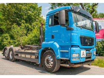 Hook lift truck MAN TGS 26.480 6x2 Abroller Meiller 2070