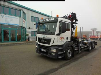 Hook lift truck MAN TGS 26.500 6x2-2 BL Palfinger T20.65 + Recycling