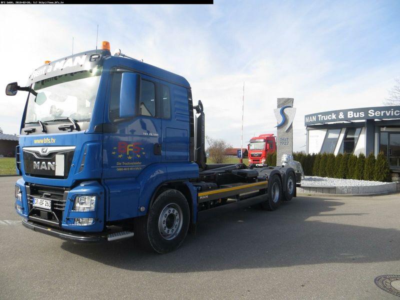hook lift truck MAN TGS 26.500 6x2-4 BL Meiller RS21.70