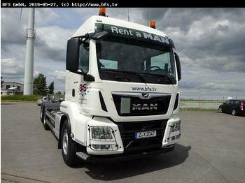Hook lift truck MAN TGS 26.500 6x2-4 BL RS 21.70 LX Haus Weiß, Anhän