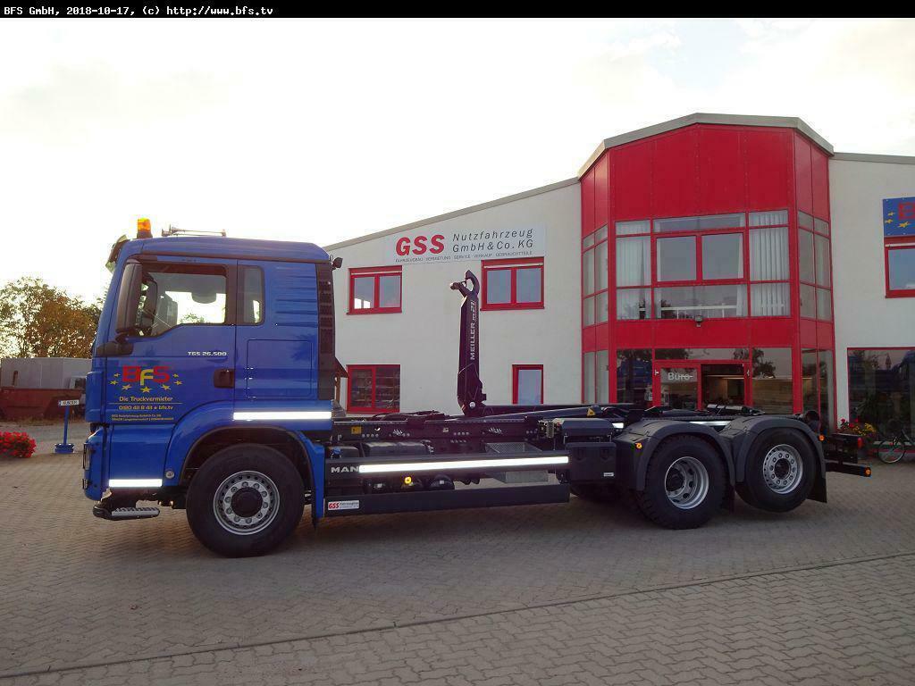 hook lift truck MAN TGS 26.500 6x4H-4BL RS 21.70  Zusatzhydraulik
