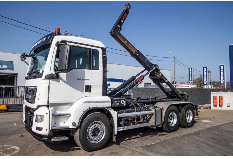 hook lift truck MAN TGS 33.400 BL - 6x4 + HIAB XR 21S51