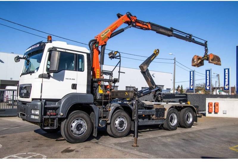 hook lift truck MAN TGS 35.360 BB - PALFINGER PK 16001