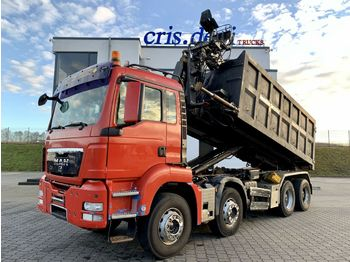 Hook lift truck MAN TGS 35.440 8x4 Multilift Haken + Hiab 070 + Grei