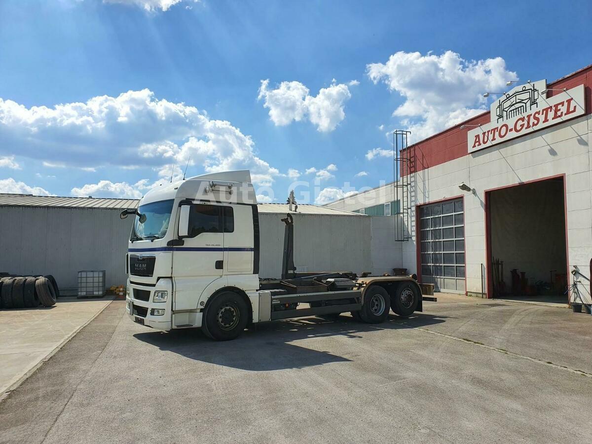 hook lift truck MAN TGX 26.480  6x2  BL Meiller RK 20.70