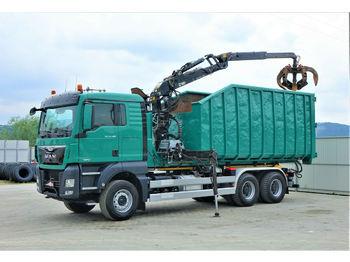 Hook lift truck MAN  TGX 33.480 Abrollkipper 5,70m+HDS *6x4*EURO 6 !