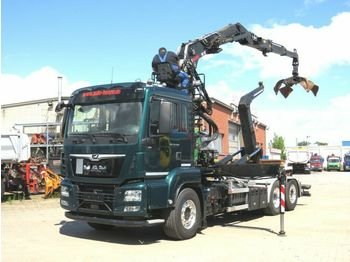 Hook lift truck MAN TG-S 26.500 6x2 Abrollkipper mit Kran
