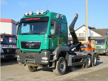 Hook lift truck MAN TG-S 26.540 6x6 Abrollkipper Meiller
