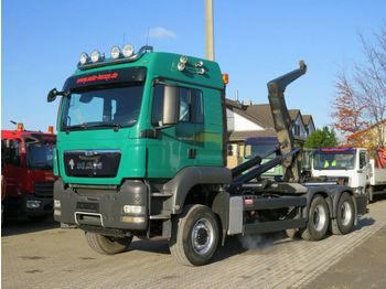 Hook lift truck MAN TG-S 26.540 6x6 Abrollkipper Schalter, Meiller