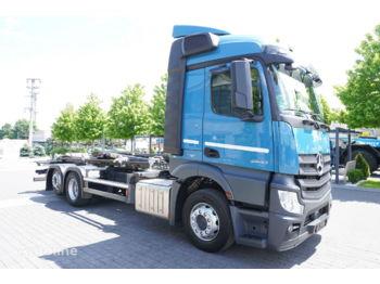 Hook lift truck MERCEDES-BENZ Actros 2540, E6, 6X2, NEW HYVA 20T HOOK, Retarder