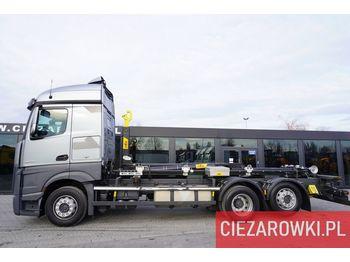 Hook lift truck MERCEDES-BENZ Actros 2545 ,E6 , 6x2 , NEW UNUSED HOOK HYVA 20t