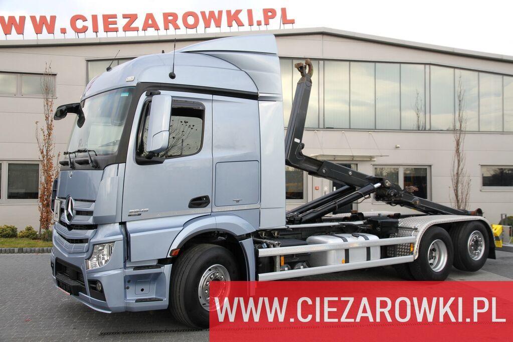 hook lift truck MERCEDES-BENZ Actros 2548L , E6 , 6x2 , Hooklift Meiller 20t , 160.000km , Ret